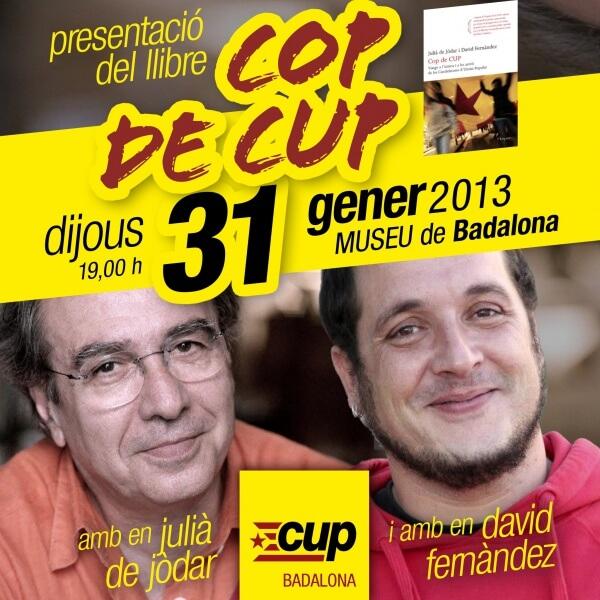 2013-01-28 - CUP Badalona - Llibre Cop de CUP al Museu.JPG